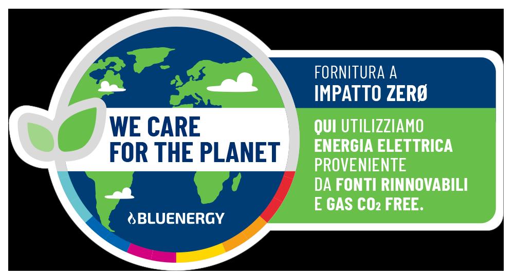 Fornitura a impatto zero.qui utilizziamo energia elettrica proveniente da fonti rinnovabili e gas con compensazione della co2 emessa