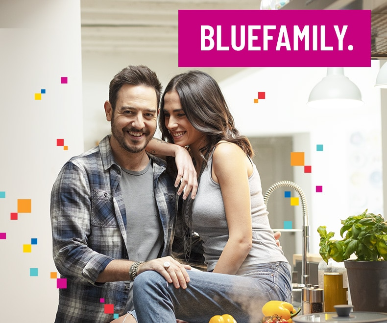 Offerta luce e gas Bluefamily