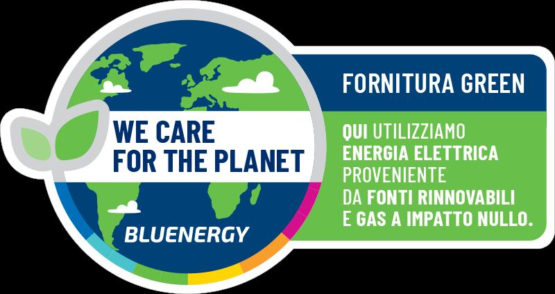 Fornitura a impatto nullo.qui utilizziamo energia elettrica proveniente da fonti rinnovabili e gas co2 free