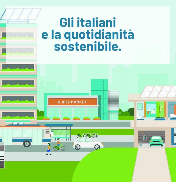 gli italiani e la quotidianità sostenibile